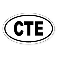 CTE Oval Decal