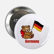 "Germany Teddy Bear 2.25"" Button (10 pack)"
