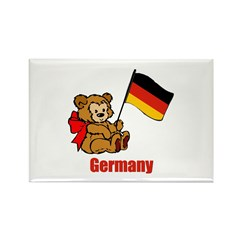 Germany Teddy Bear Rectangle Magnet
