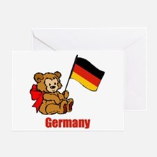 Germany Teddy Bear Greeting Card
