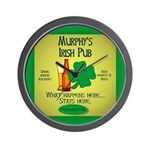 Murphy's Irish Pub Wall Clock