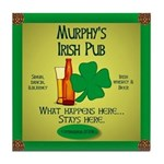 Murphy's Irish Pub Tile Coaster