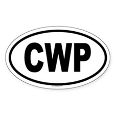 CWP Oval Decal