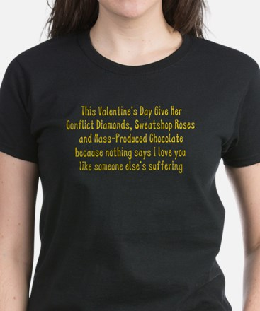 Anti-Valentine Women's Dark T-Shirt