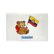 Ecuador Teddy Bear Rectangle Magnet