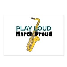 Play Loud March Proud Sax Postcards (Package of 8)