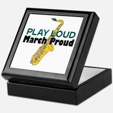 Play Loud March Proud Sax Keepsake Box