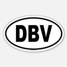 DBV Oval Bumper Stickers