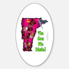 VT-Cow Pie! Oval Decal