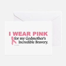 Pink For My Godmother's Bravery 1 Greeting Card