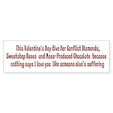 Anti-Valentine Bumper Bumper Sticker