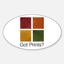 Got Prints? Boxes Oval Decal
