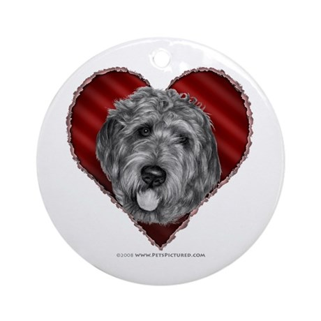 Labradoodle Valentine Ornament (Round)