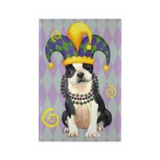 Party Boston Terrier Rectangle Magnet