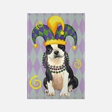 Party Boston Terrier Rectangle Magnet (10 pack)