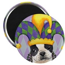 Party Boston Terrier Magnet