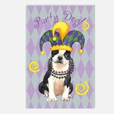 Party Boston Terrier Postcards (Package of 8)