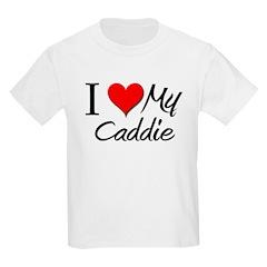 I Heart My Caddie Kids Light T-Shirt