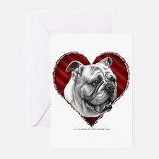 Bulldog Valentine Greeting Cards (Pk of 20)