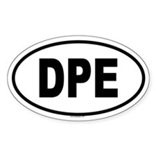 DPE Oval Decal