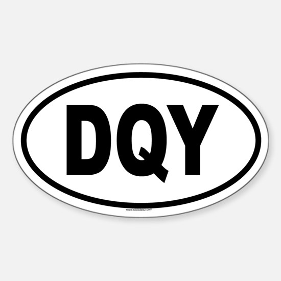DQY Oval Decal
