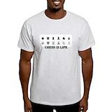 Chess is life Mens Light T-shirts