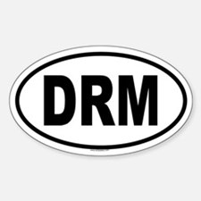 DRM Oval Bumper Stickers