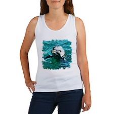 DOLPHIN WATERCOLOR ART Women's Tank Top