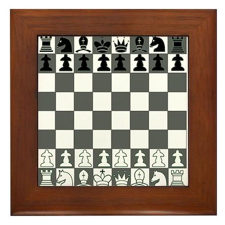 Chessboard Framed Tile
