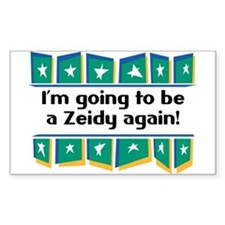I'm Going to be a Zeidy Again! Sticker (Rectangula