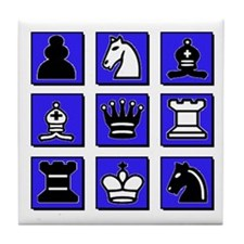 Chess Collage Tile Coaster
