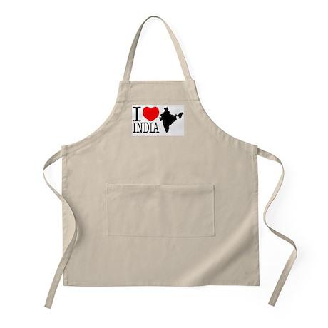 I Love India BBQ Apron