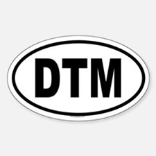 DTM Oval Decal