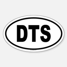 DTS Oval Bumper Stickers