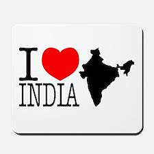 I Love India Mousepad