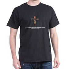 Jesus beat the devil with two sticks T-Shirt