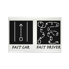Fast Car Fast Driver Rectangle Magnet (10 pack)