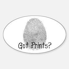 Got Prints? Big Oval Decal