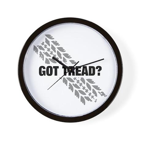 Got Tread? Horz Wall Clock