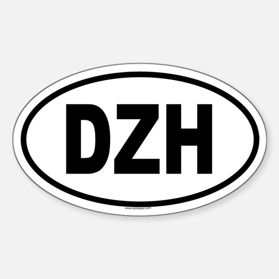 DZH Oval Decal