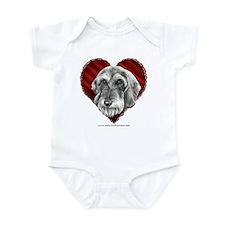Wire-Haired Dachshund Valentine Infant Bodysuit