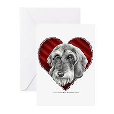 Wire-Haired Dachshund Valentine Greeting Cards (Pk