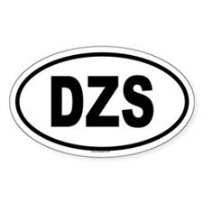 DZS Oval Decal