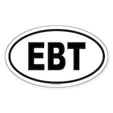 EBT Oval Decal