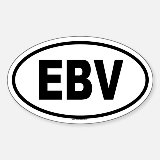 EBV Oval Decal