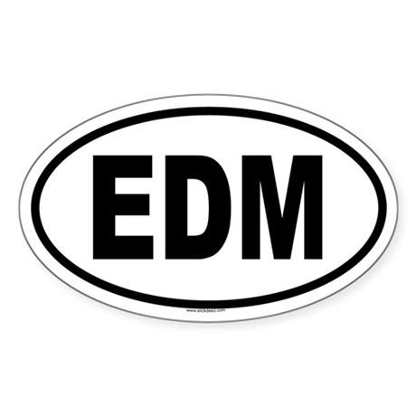 EDM Oval Sticker
