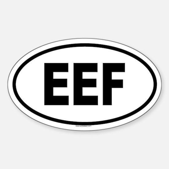 EEF Oval Decal