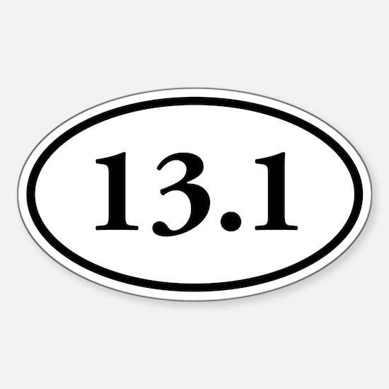 13.1 Half-Marathon Oval Decal