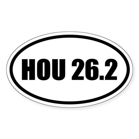Houston Marathon 26.2 Oval Sticker
