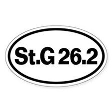 St. George Marathon 26.2 Oval Decal